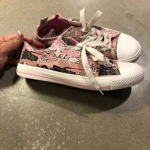 Star Wars converse style pink Princess Leia shoe